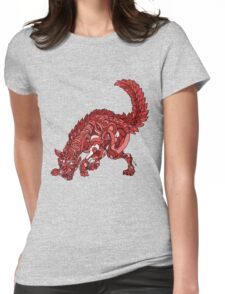 Red Wolf Womens Fitted T-Shirt