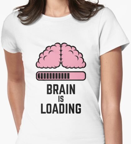 Brain Is Loading (Pink) Womens Fitted T-Shirt