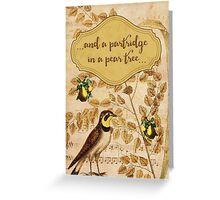 Gold Partridge in a Pear Tree Holiday  Greeting Card