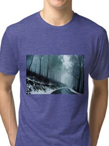 0233  Into a cold dark place   [e] Tri-blend T-Shirt
