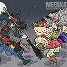 Ukiyo-e Witches by Meerkatsu