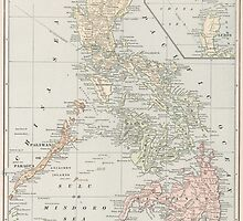 Vintage Map of The Philippine Islands (1901) by BravuraMedia