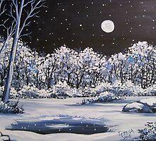Winter's Secret Place - Acylic by teresa731