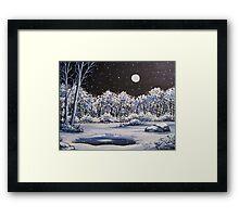 Winter's Secret Place - Acylic Framed Print