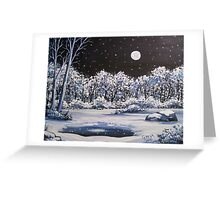 Winter's Secret Place - Acylic Greeting Card