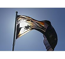 Australian Flag on Sunny Day Photographic Print
