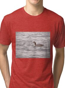 A Loon of Wisconsin Tri-blend T-Shirt