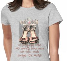 Conquer the World - Girl Style Womens Fitted T-Shirt