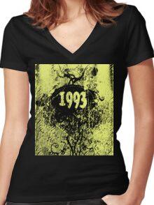 1993 retro vintage T-shirt Women's Fitted V-Neck T-Shirt