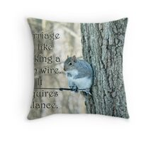 The Sage Of The High Wire Throw Pillow