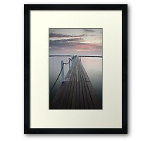 Walk The Plank Framed Print
