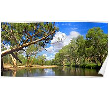 Panoramic River In The Centre of Oz. Poster
