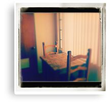 Two Chairs and a Table Canvas Print