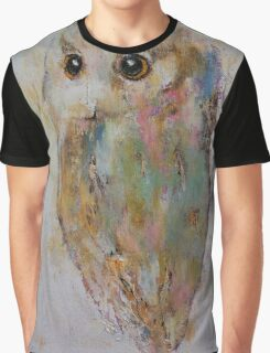 Owl Painting Graphic T-Shirt