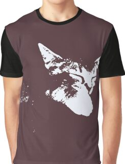 Cat Nap - One Color Vector Graphic T-Shirt
