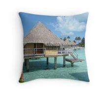 Overwater Bungalow Throw Pillow