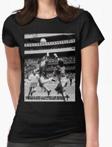 la Mano de Dios Womens Fitted T-Shirt