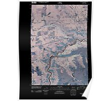USGS Topo Map Washington State WA Klickitat 20110406 TM Inverted Poster