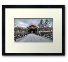 Fitch Bay Covered Bridge Framed Print