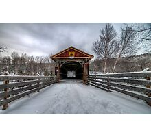Fitch Bay Covered Bridge Photographic Print