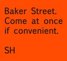Sherlock Messages - 5 (Black) T-Shirt