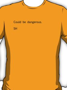 Sherlock Messages - 6 (Black) T-Shirt