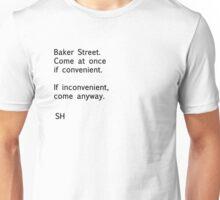 Sherlock Messages - 8 (Black) Unisex T-Shirt