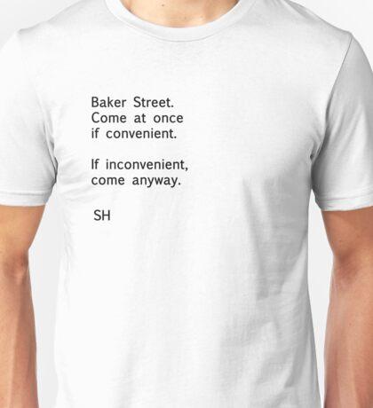 Sherlock Messages - 8 (Black) T-Shirt