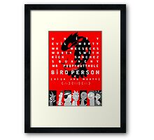 bird person Framed Print