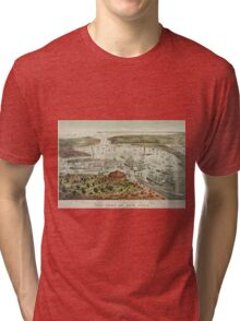 Vintage Pictorial Map of The Port of New York Tri-blend T-Shirt