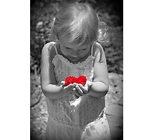 Holding My Heart Photographic Print