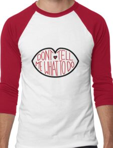 Don't Tell Me What To Do - Black and Red Men's Baseball ¾ T-Shirt