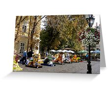 autumn in the city of lions Greeting Card