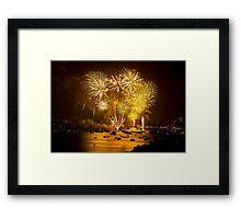 2012 sydney NYE fireworks - 2 Framed Print