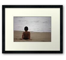 Contemplation in Aloneness Framed Print