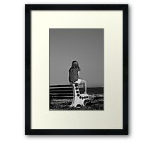 Lonely Girl Framed Print