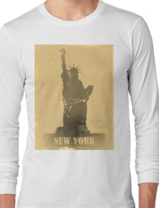 Statue of Liberty  Vintage T-Shirt Long Sleeve T-Shirt