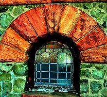 Kips Castle Window by Jane Neill-Hancock