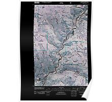 USGS Topo Map Washington State WA Curlew 20110509 TM Inverted Poster