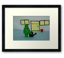GREEN MAN WIT HEART Framed Print