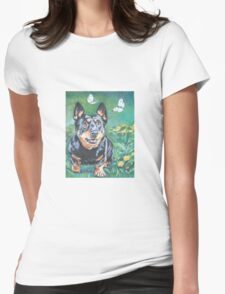 Lancashire Heeler  Fine Art Painting Womens Fitted T-Shirt