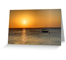 Zanzibar Sunset Greeting Card