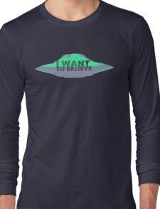 I Want To Believe (UFO II) Long Sleeve T-Shirt