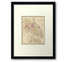 Vintage Map of Portsmouth NH (1892) Framed Print