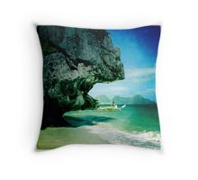 Entalula island, El Nido, Philippines Throw Pillow