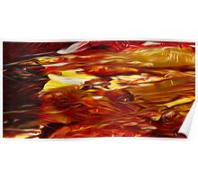 Abstract Colors Oil Painting #50 Poster