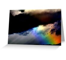 Fighting in the sky. Greeting Card