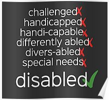 Disabled. Period. Poster