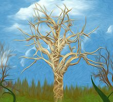 The Tree Oil Painting by Fred Seghetti