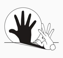 Rabbit Hand Shadow  by mobii